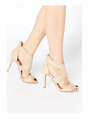 LIPSY Liberty Nude Studded Caged Heeled Sandals