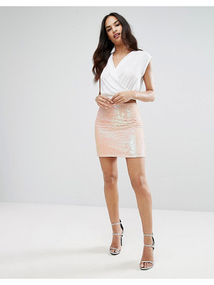 LIPSY Mini Skirt In Sequin