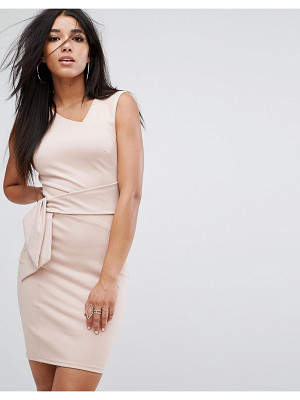 Lipsy Panel Mini Dress with Suedette Detail