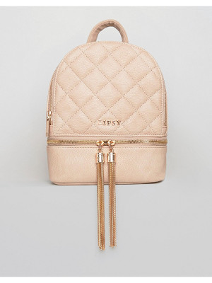 LIPSY Quilted Tassel Mini Backpack