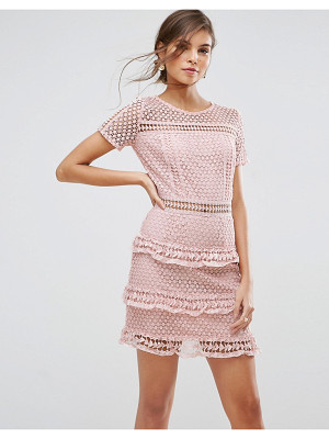 LIQUORISH Layered Lace Dress