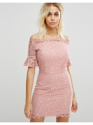 Liquorish Off Shoulder Lace Dress