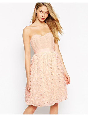 Little Mistress Bandeau Prom Dress With 3D Floral Applique Skirt