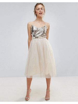 Little Mistress Heavily Embellished Prom Dress