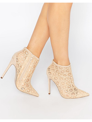 LITTLE MISTRESS Hepburn Lace Heeled Ankle Boots