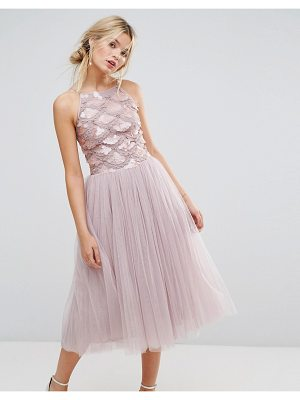 LITTLE MISTRESS Tulle Dress With Sequin Upper