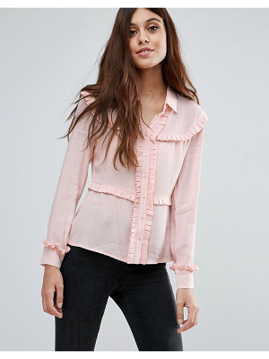 LITTLE WHITE LIES Marthe Frill Detail Shirt