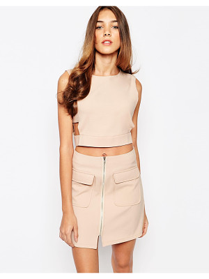 Lola May crop top with cut out