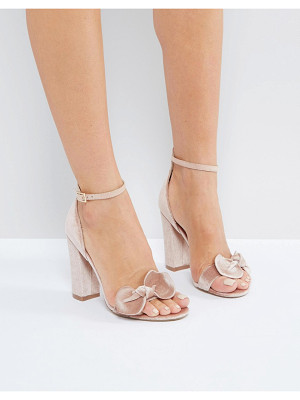 LONDON REBEL Bow Trim Block Heel Sandal