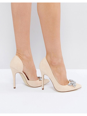 LONDON REBEL Jewel Trim Point High Heels