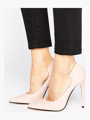 Lost Ink Freya Light Pink Curved Pumps
