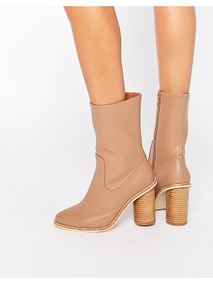 LOST INK Gorzo Calf Round Heeled Ankle Boots