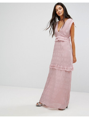 Lost Ink maxi dress with frills
