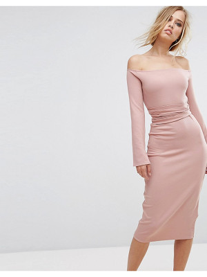 LOST INK Midi Dress With Split Sleeves