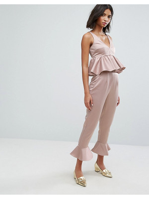 LOST INK Pants With Peplum Hem Co-Ord
