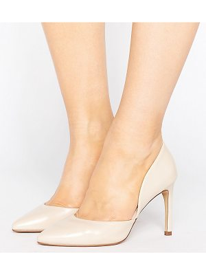 Lost Ink Wide Fit Cut Out Nude Pumps