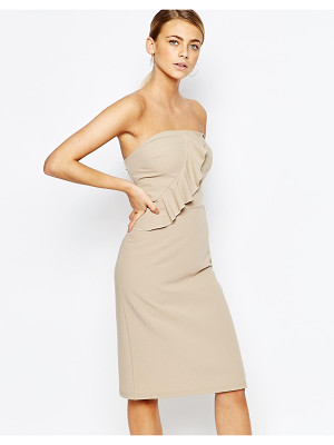 Love Bandeu Frill Pencil Dress
