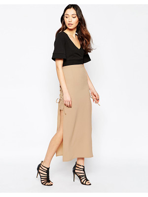 Love Lace Up Maxi Skirt