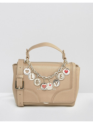 Love Moschino Bowler Tote Bag With Charms