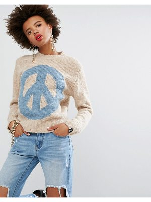 Love Moschino Peace Cashmere Wool Mix Sweater