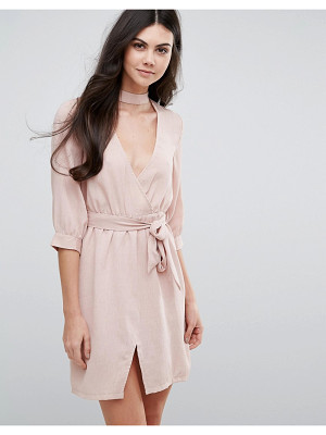 Love & Other Things Belted Wrap Dress