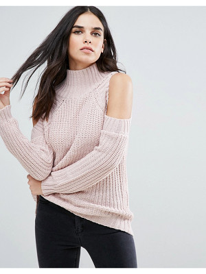 Love & Other Things Cold Shoulder Sweater