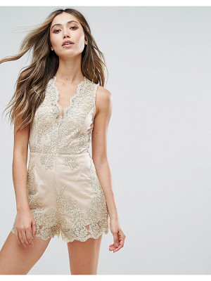 Love & Other Things Embroidered Romper
