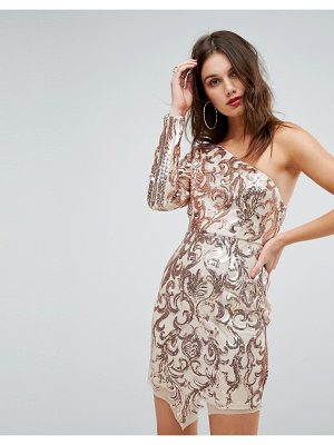 Love Triangle one shoulder sequin mini dress