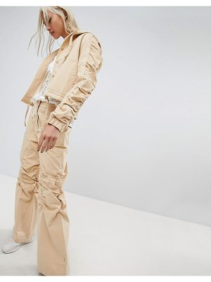 Maharishi Wide Leg Pants With Gathered Knee Co-Ord