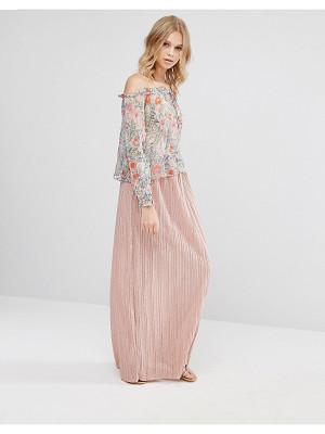 MANGO Pleated Maxi Skirt