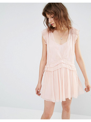 MANGO Pretty Layered Mini Dress