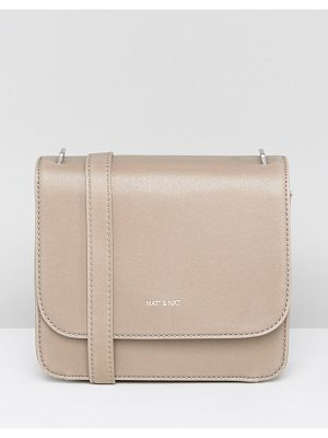 MATT & NAT Matt & Nat Minimal Cross Body Bag In Nude