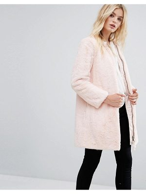 MAX & CO Max & Co Faux Pink Fur Darsena Coat