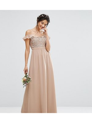 MAYA Cold Shoulder Maxi Dress With Delicate Sequins