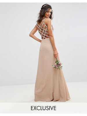 Maya Delicate Sequin Maxi Dress With Cross Back Detail