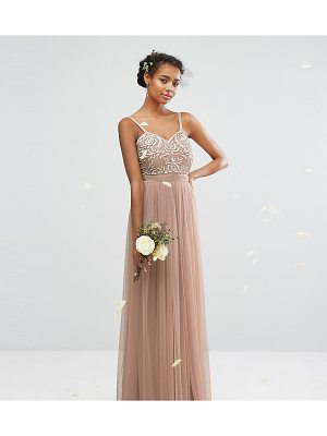 Maya Embellished Tulle Maxi Dress