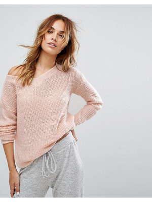 MICHA LOUNGE Off Shoulder Slouchy Sweater