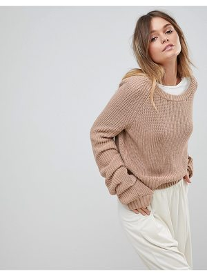 Micha Lounge Open Weave Slouchy Sweater