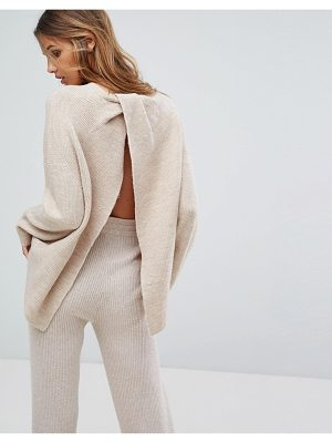 MICHA LOUNGE Wrap Back Sweater