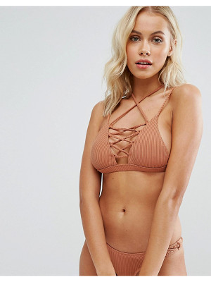 MINIMALE ANIMALE Lace Up Bikini Top