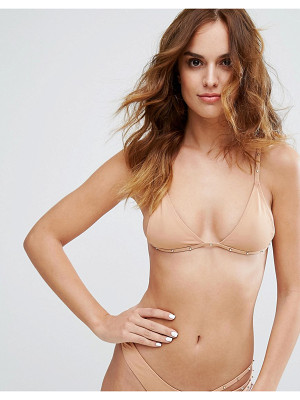 MINIMALE ANIMALE Studded Triangle Bikini Top