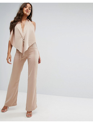 Misha Collection Plunge Jumpsuit With Tie Waist