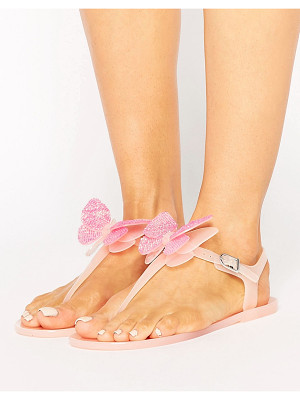 MISS KG Dina Butterfly Toepost Jelly Flat Sandals