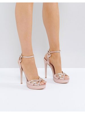 MISS KG Fabienne Jewelled Butterfly Platform Heeled Sandals