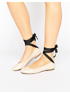 MISS SELFRIDGE Contrast Tie Up Ballet Flat
