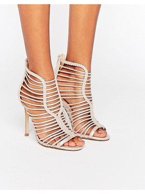 MISS SELFRIDGE Metallic Lattice Heeled Sandals