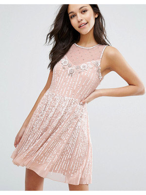MISS SELFRIDGE Premium Embellished Skater Dress
