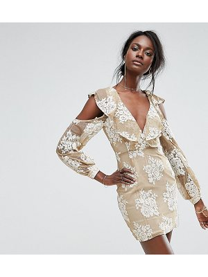 MISSGUIDED Cold Shoulder Lace Dress