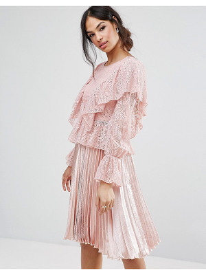 MISSGUIDED Lace Frill Blouse