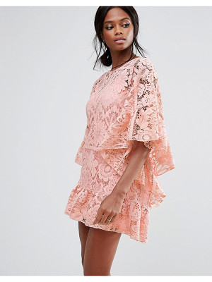 MISSGUIDED Lace Kimono Sleeve Dress